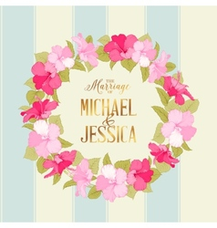 Marriage wreath vector