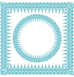 Round and square frame vector