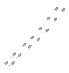 Footprint trail vector