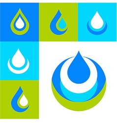 Water logo set vector