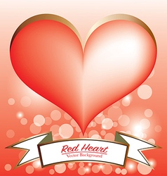 Red heart symbol banner vector