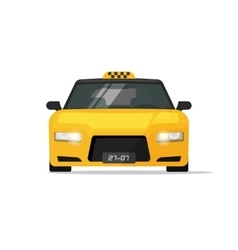 Taxi car isolated luxury front view vector
