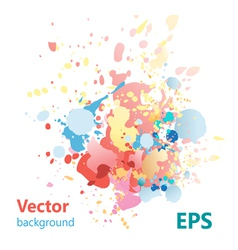 Abstract background with colorful splashes vector