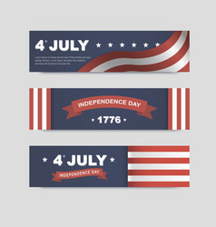 Banners for independence day of america vector