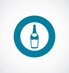beer bottle icon bold blue circle border vector image