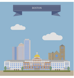 boston the capital of massachusetts vector image vector image