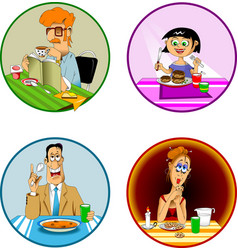 breakfast lunch dinner vector image