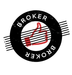 Broker rubber stamp vector