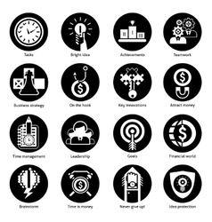Business concept icons black vector