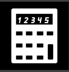 calculator the white color icon vector image