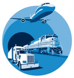 Cargo transportation blue vector