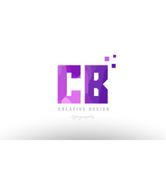 Cb c b pink alphabet letter logo combination with vector