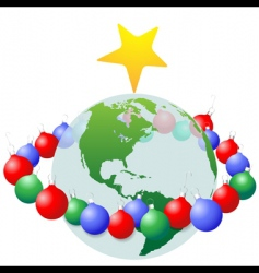 Christmas decoration ornaments vector image