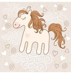 Cute horse vector image vector image
