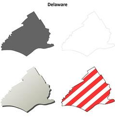 Delaware Map Icon Set vector image