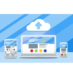 Development of adaptive design and a cloud service vector image vector image