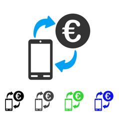 euro mobile exchange flat icon vector image vector image