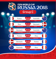Fifa world cup russia 2018 group c fixture vector