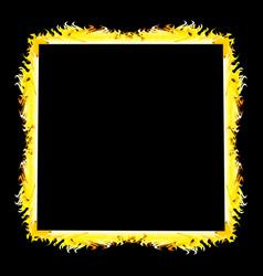 Form on black background aflame vector