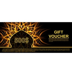 Gift voucher template with futuristic background vector image vector image