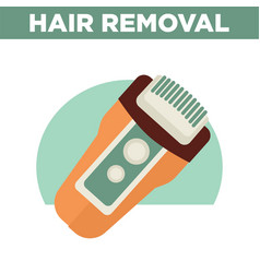 Hair removal promotional poster with modern vector