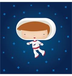 Happy astronaut vector