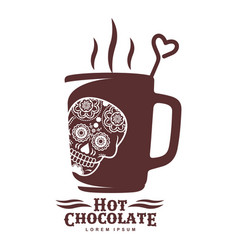 hot chocolate logo template vector image