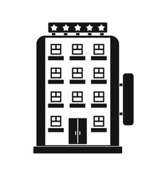 Hotel building icon simple style vector