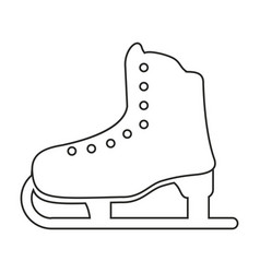 Ice skate sport leisure thin line vector