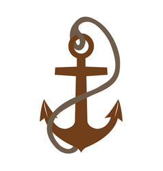 isolated anchor icon vector image