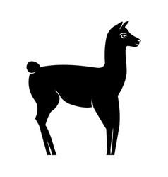 Lama silhouette logo vector
