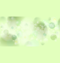 light green abstract shiny bokeh background vector image vector image