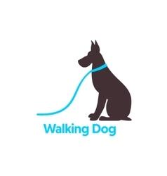 Logo design for dog walking vector image