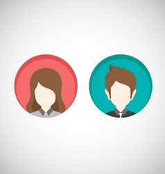 Male and Female icons Flat style vector image vector image