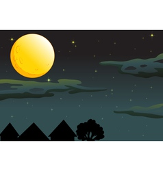 Moonlit Evening vector image vector image