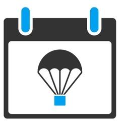 Parachute calendar day toolbar icon vector