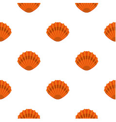 Pearl shell pattern flat vector
