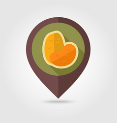 Potato flat pin map icon vegetable vector