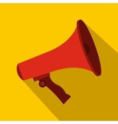 Red megaphone icon flat style vector image vector image