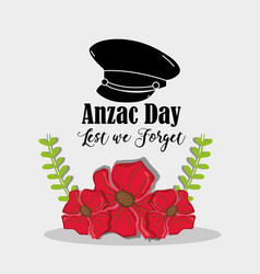 Remambrance hat soldier to anzac day vector