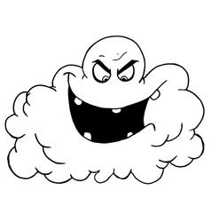 Royalty free rf clipart cartoon black cloud of vector