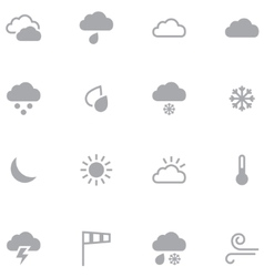 Set of minimalistic weather icons for web and vector