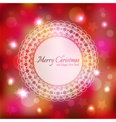Sparkling Colorful Christmas Greeting Card vector image