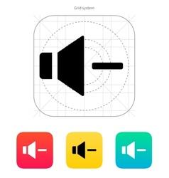 Speaker icon Volume minus vector image vector image