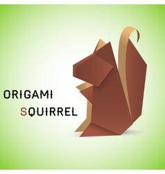 Squirrel origami vector image vector image