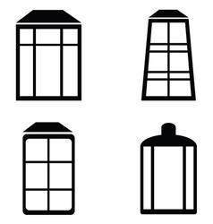 Street lamps icon set vector