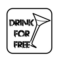 thin line free drink icon vector image vector image