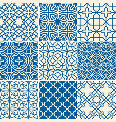 Turkish texture semless patterns vector