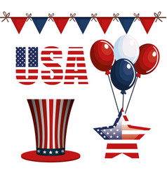 Usa related objects vector