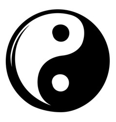Yin yang icon cartoon vector